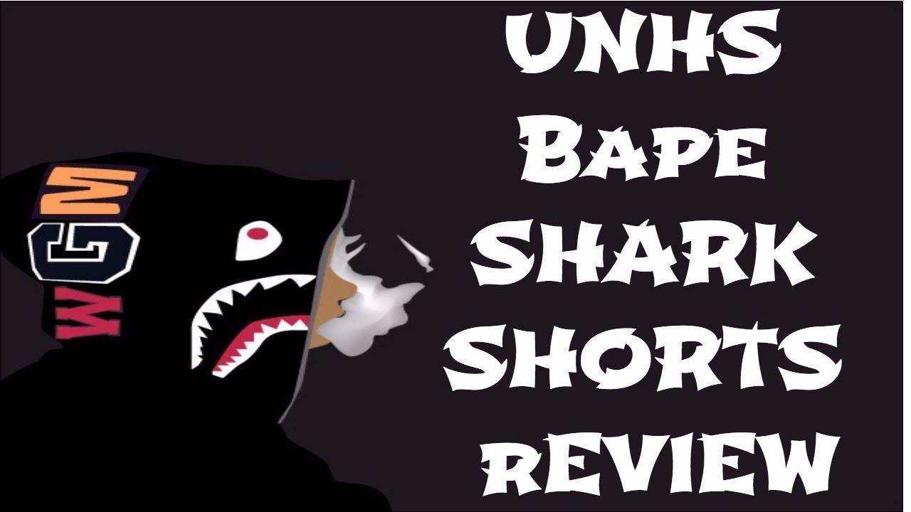 0b63b8d3c276 UNHS (Unionhouse) BAPE Shark Shorts Review - YouTube