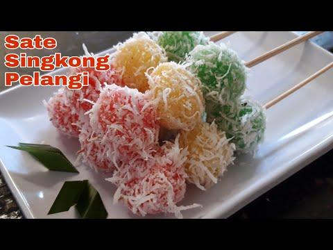 Sate Singkong Pelangi | Resep #Jajananpasar #kuejadul