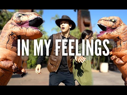 DRAKE - In My Feelings Challenge (Dinosaur Version) | Kyle Hanagami Choreography