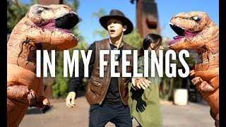 DRAKE - In My Feelings Challenge (Dinosaur Version) | Kyle Hanagami Choreography