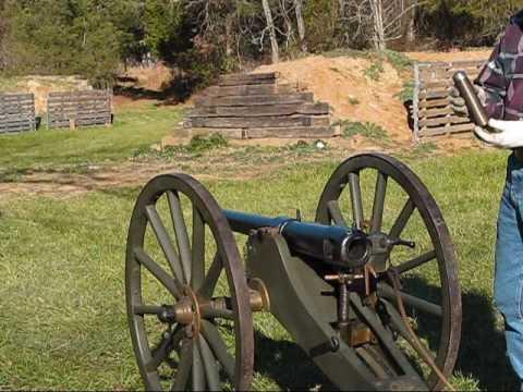 Shooting the Hotchkiss 2-Pounder Mountain Gun