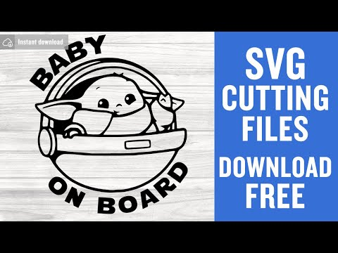 Baby Yoda Svg Free Cut Files For Silhouette Cameo Instant Download Youtube