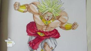 Drawing Legendary Super Saiyan Broly ブロリー