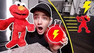 (Insane) ELMO DOLL DRINKS SPEED POTION AND GOES SUPER FAST! (ELMO COMES FOR ME)