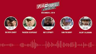 SPEAK FOR YOURSELF Audio Podcast (12.3.18)with Marcellus Wiley, Jason Whitlock | SPEAK FOR YOURSELF
