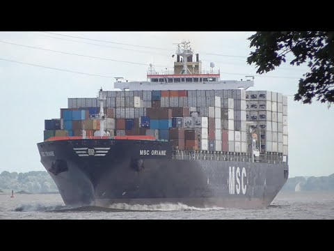 [3G] Big Ships Between the Port of Hamburg & North Sea, Stadersand, Germany 08/06/2016 ©mbmars01