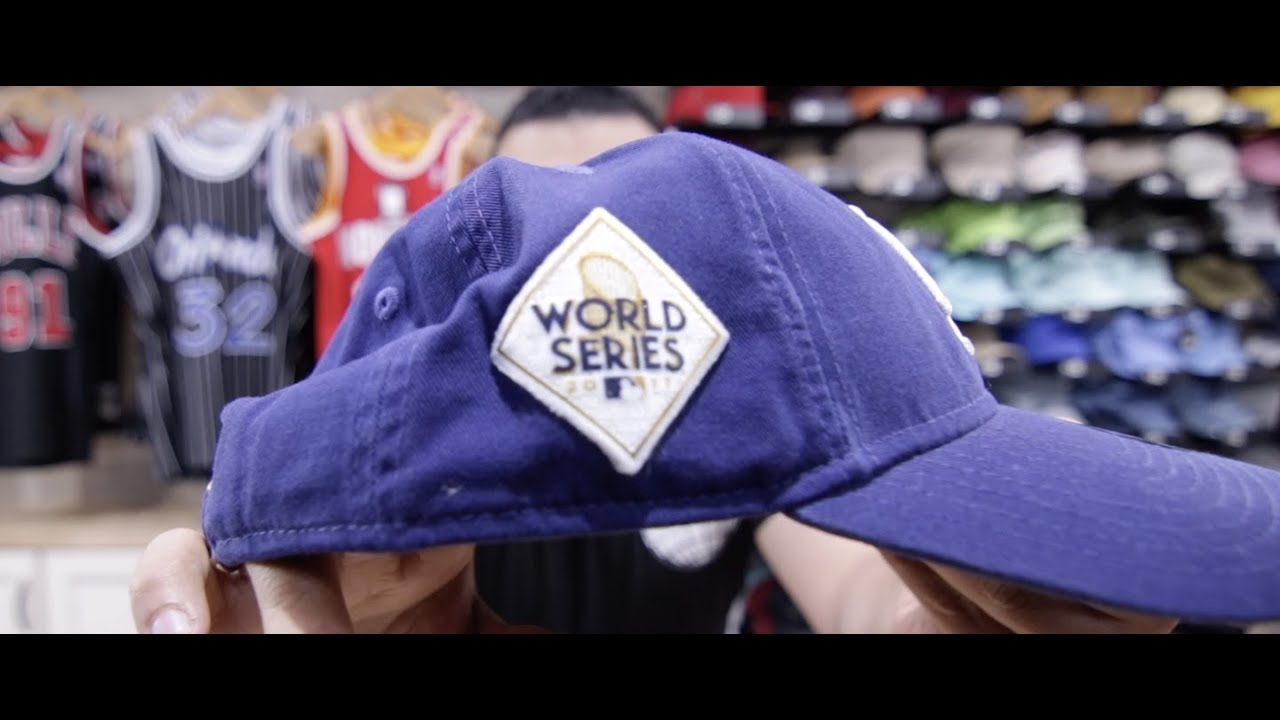 2017 World Series Dodgers Fitted 2017 Baseball World Series Dad Hat Youtube