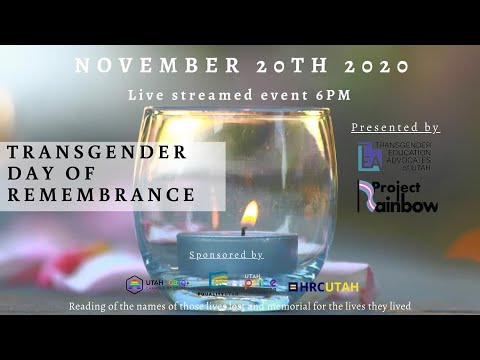 Download Transgender Day of Remembrance 2020 with TEA of Utah
