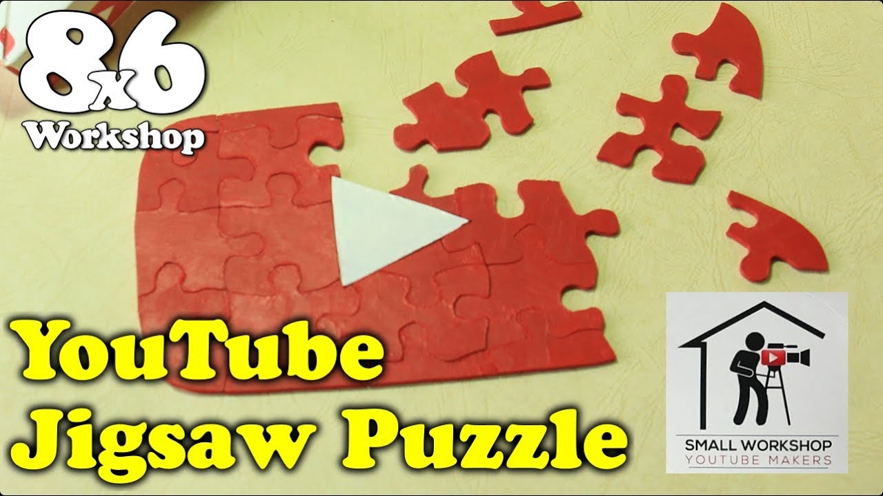Youtube play button jigsaw puzzle a scroll saw project for the youtube play button jigsaw puzzle a scroll saw project for the small workshop makers challenge 2018 greentooth Gallery