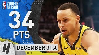 Stephen Curry Full Highlights Warriors vs Suns 2018.12.31 - 34 Pts, 4 Ast, 9 Rebounds!