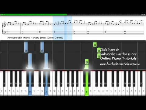 Hamdard (Ek Villain) Easy to Advanced FREE (Piano Tutorial + Music Sheet + MIDI )
