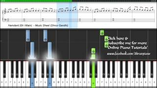 Hamdard (Ek Villain) Easy to Advanced FREE (Piano Tutorial + Music Sheet + MIDI )