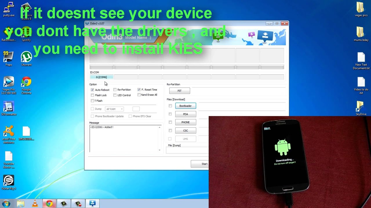 Samsung Galaxy S4 - i9505 - How To - Install a Custom Recovery