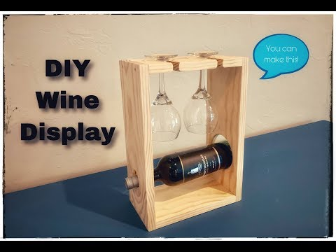 DIY Wine Display (Great For Craft Fairs and Gifts)