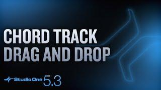 #StudioOne 5.3 - Chord Track Drag & Drop!