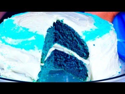 How to make a Blue Velvet Cake , YouTube