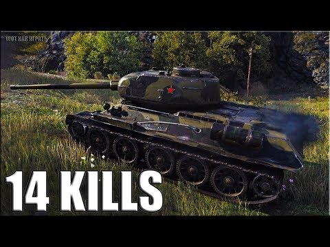 14 фрагов за бой World of Tanks Т-34-85М ? лучший бой на прем танке 6 уровень thumbnail