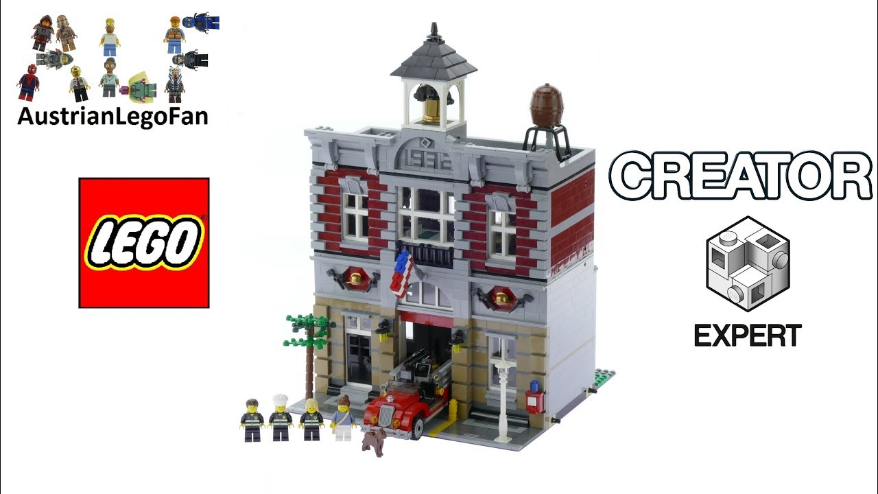 Lego Creator 10197 Fire Brigade Lego Speed Build Review