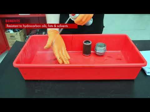 Disposable Nitrile Gloves - Diamond Grip Orange