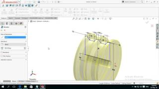 how to make create pulley in solidworks basics for beginners tutorial 10