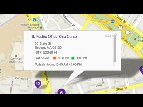 FedEx.com re-imagined with Google Maps