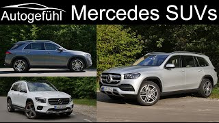 Mercedes GLA vs GLB vs GLC vs GLE vs GLS comparison review!