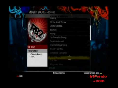 Rock Band 2 Wii - Music Store DLC