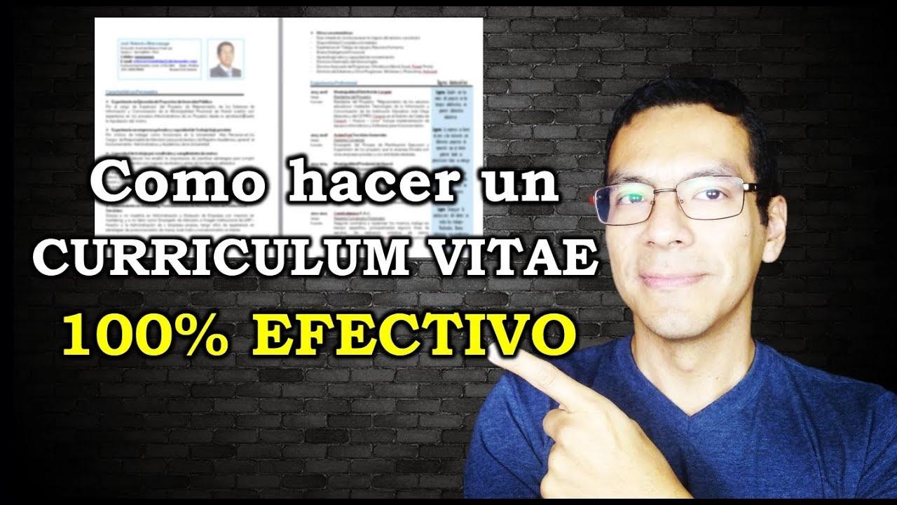 El Mejor Curriculum Vitae para CONSEGUIR TRABAJO 100% Efectivo ...