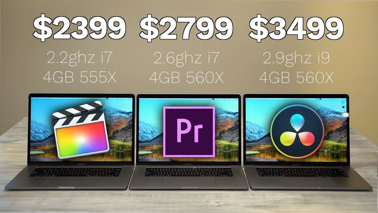 Every 2018 15 Macbook Pro Compared For Video Editing Youtube