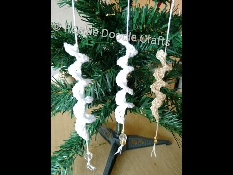 Christmas Decorations - Crochet Icicles - Quick and simple