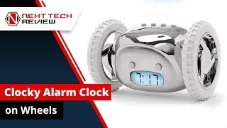 Clocky Alarm Clock on Wheels in Chrome Wheels Review! - NTR