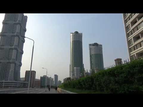平壌 黎明通り(れいめい通り)Ryomyong Street in Pyongyang DPRK