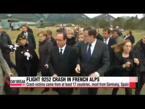 European leaders survey Germanwings crash site   독일 알프스 여객기 추락