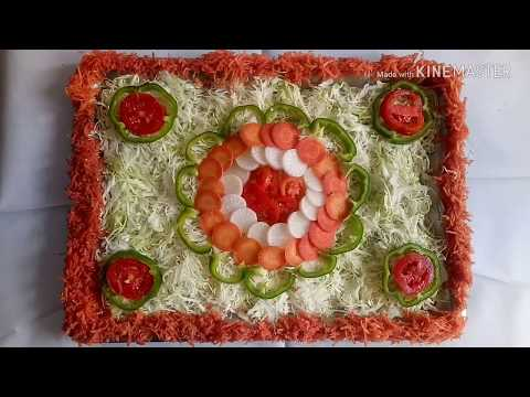 1st Prize winner salad decoration , Easy salad decoration idea