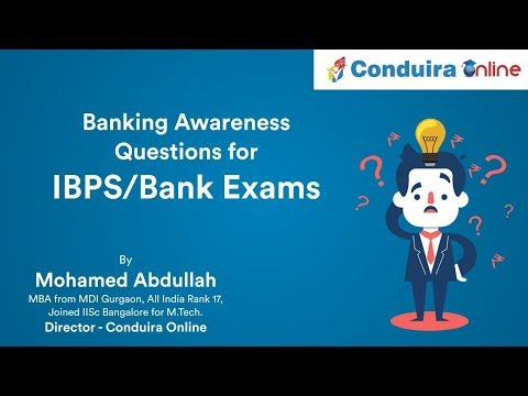 Banking Awareness Questions for IBPS/Bank Exams