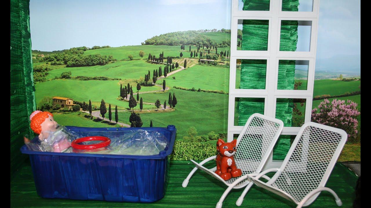 Como fazer piscina para bonecas com caixa de frutas youtube for Piscina 7 de agosto