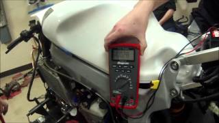 How to test current draw on a motorcycle charging system Demo on  RC51 with bad reg rec