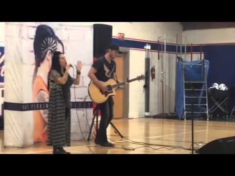 Kat Perkins Performs at Maple Valley High School