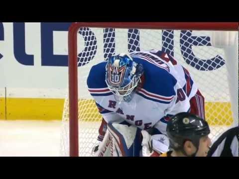 Henrik Lundqvist robs David Krejci (Dual Feed) | 01/19/2013 [HD]