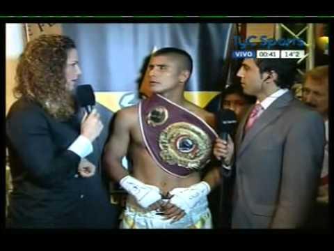 Javier La Bestia MACIEL - Interview Ring Side WBO post Clayton