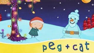 peg cat visiting santa claus