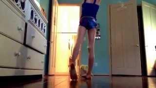 amazing 9 year old girl doing gymnastics