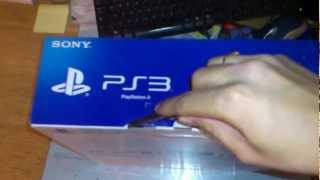 PS3 super slim Unboxing 500gb