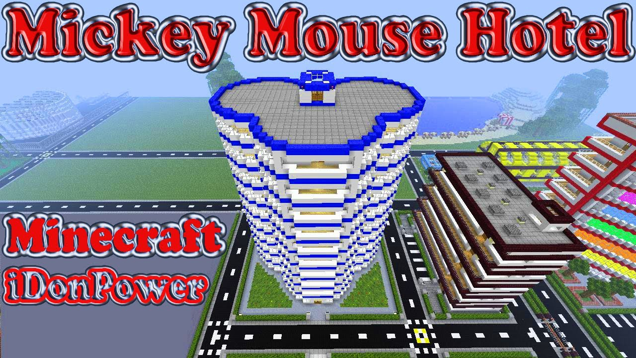 Minecraft Mickey Mouse Hotel - YouTube