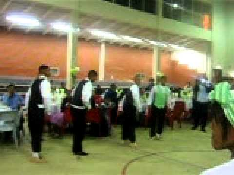 Nama stap dancers of the Griqua Royal House