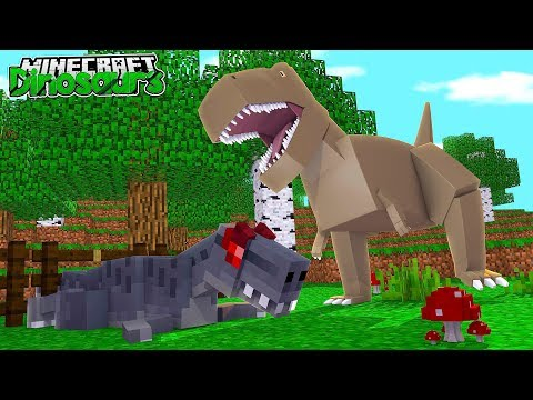 THE T-REX KILLED ANOTHER DINOSAUR?!! - Minecraft Dinosaurs w