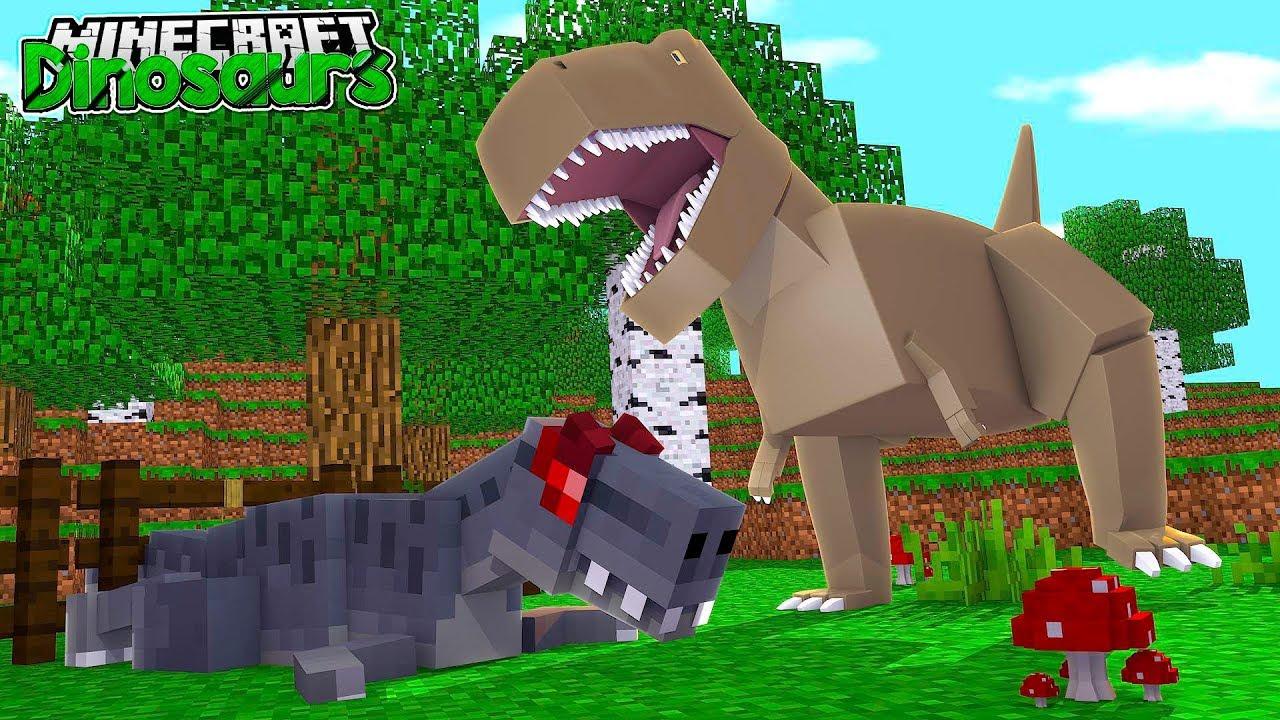 майнкрафт динозавры ютуб #5