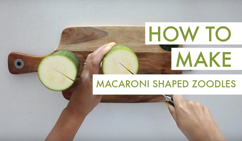 How To Make Macaroni Shaped Zucchini Noodles Italian Dried Herb