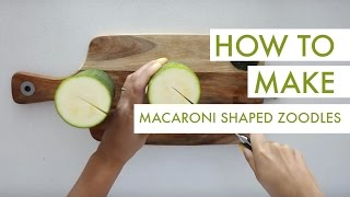 How To Make Macaroni-shaped Zucchini Noodles + Italian Dried Herb Dressing