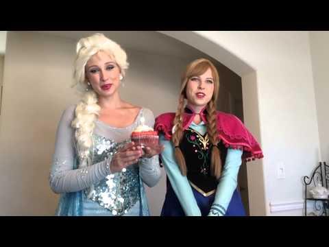 Elsa And Anna Sing Happy Birthday